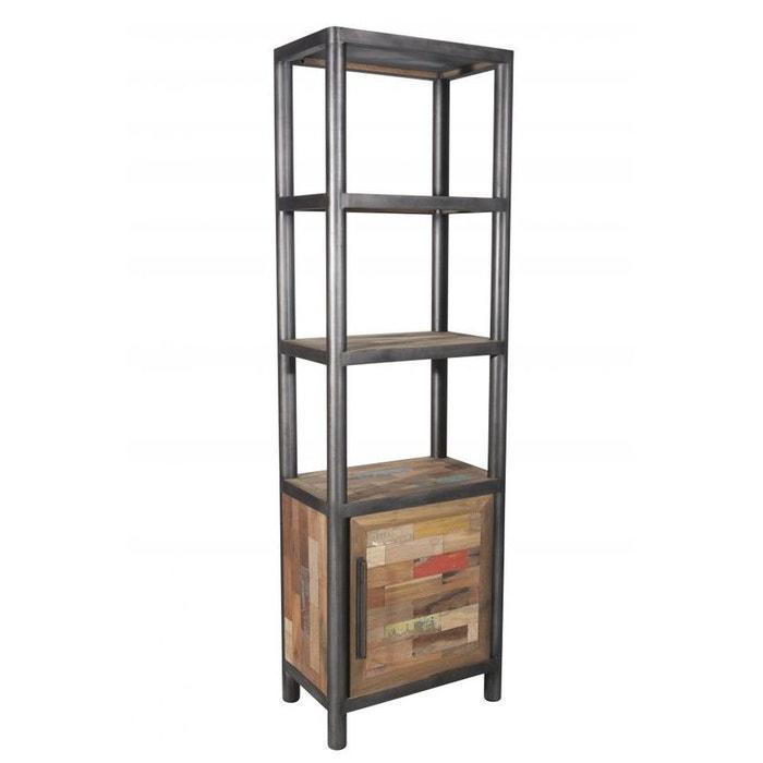 Biblioth que colonne bois recycl 1 porte 62x38x200cm caravelle bois pier imp - La redoute bibliotheque ...