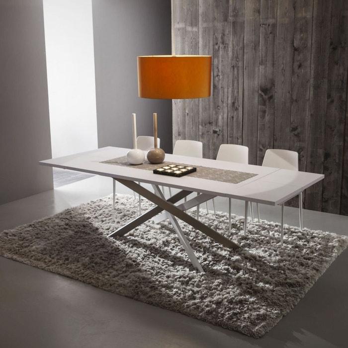 Table de repas extensible design renzo fenix zendart la for Table de repas extensible