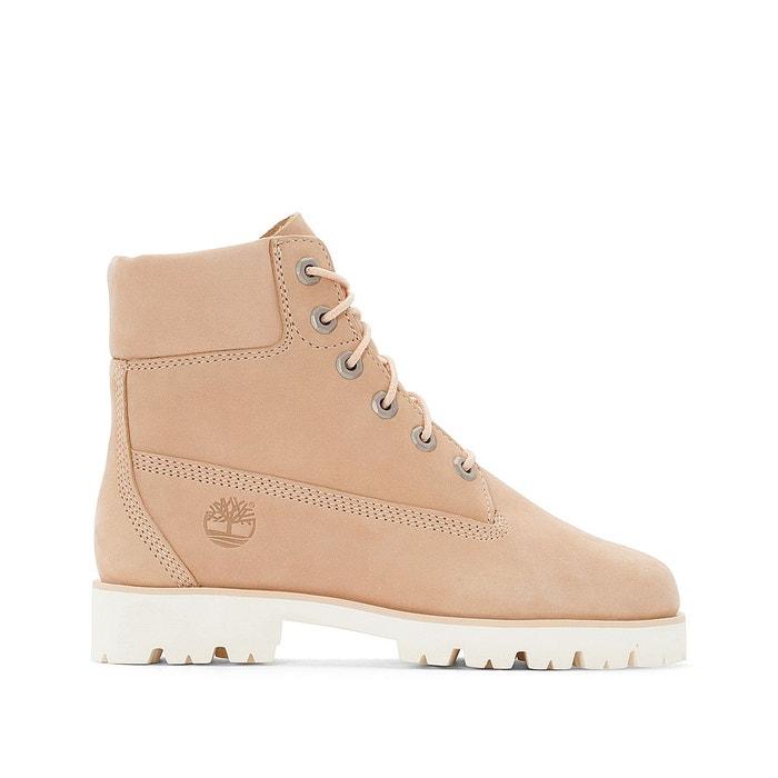Boots montantes à lacets, cuir, Heritage Lite   HER