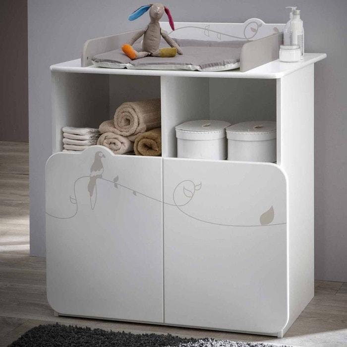 commode table langer jungle blanc terre de nuit la redoute. Black Bedroom Furniture Sets. Home Design Ideas