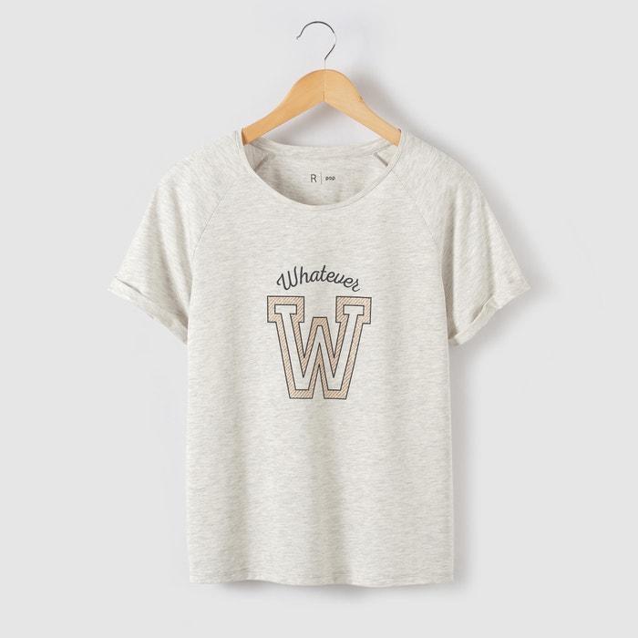 Image T-shirt met ''W'' paillettenprint R pop