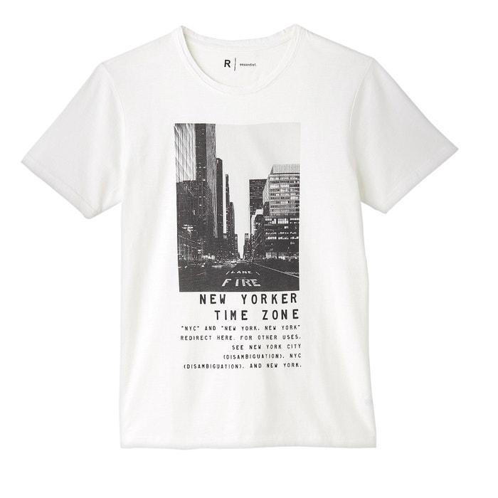 Image T-shirt scollo rotondo fantasia puro cotone La Redoute Collections