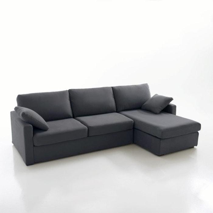 Image Canapé d'angle lit, couchage express, coton demi natté, Timor La Redoute Interieurs