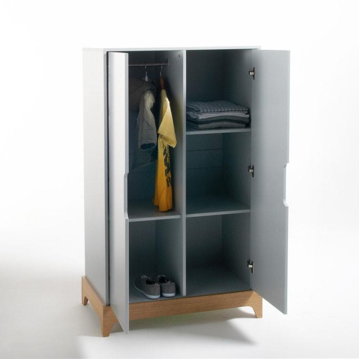 armoire dressing enfant 2 portes elira gris clair la. Black Bedroom Furniture Sets. Home Design Ideas