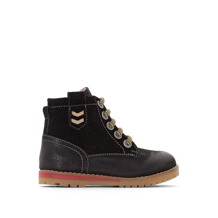 Boots Noir Cuir KickersLa Musk Redoute PkXiuOZ