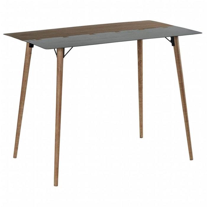 table haute mange debout 1m40 en m tal plaqu sapin massif et m tal et pieds bois massif. Black Bedroom Furniture Sets. Home Design Ideas