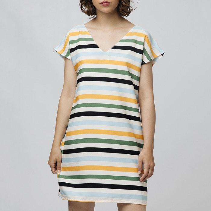 Vestidos cortos con rayas
