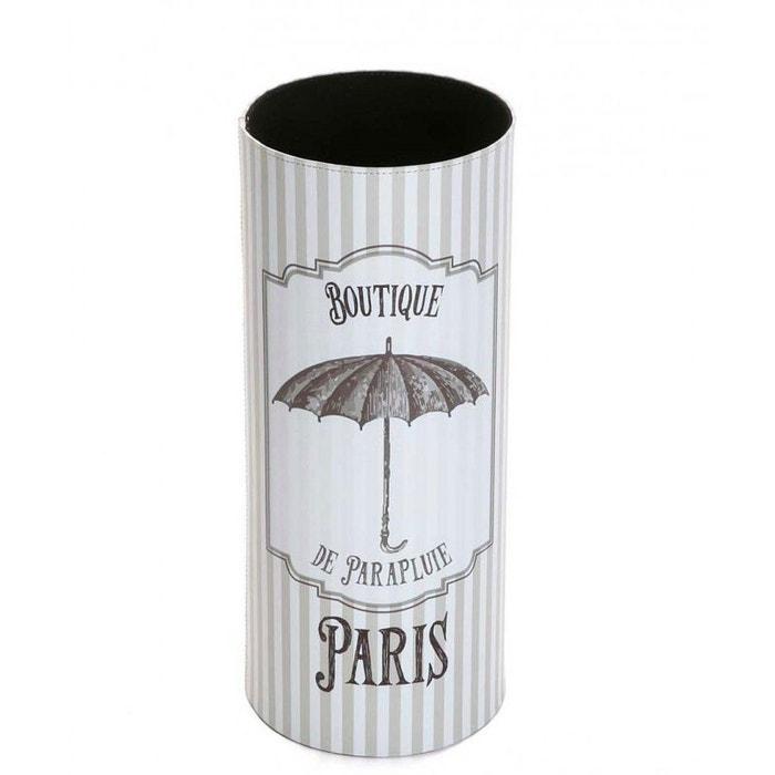 Porte parapluies rond en similicuir r tro blanc wadiga - Porte parapluie original ...