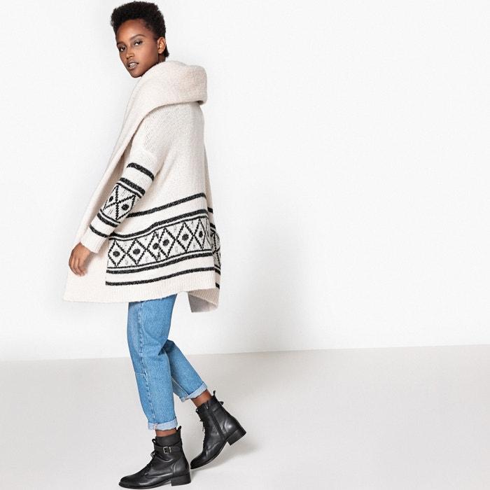 lana motivo Collections La con Redoute gr C 225;rdigan 225;fico H4Zqa