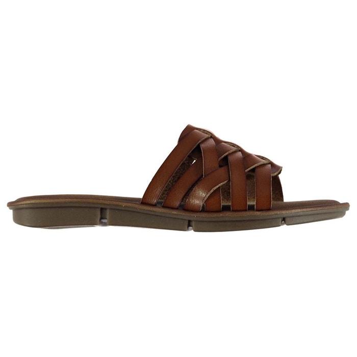 Sandales claquettes marron Skechers