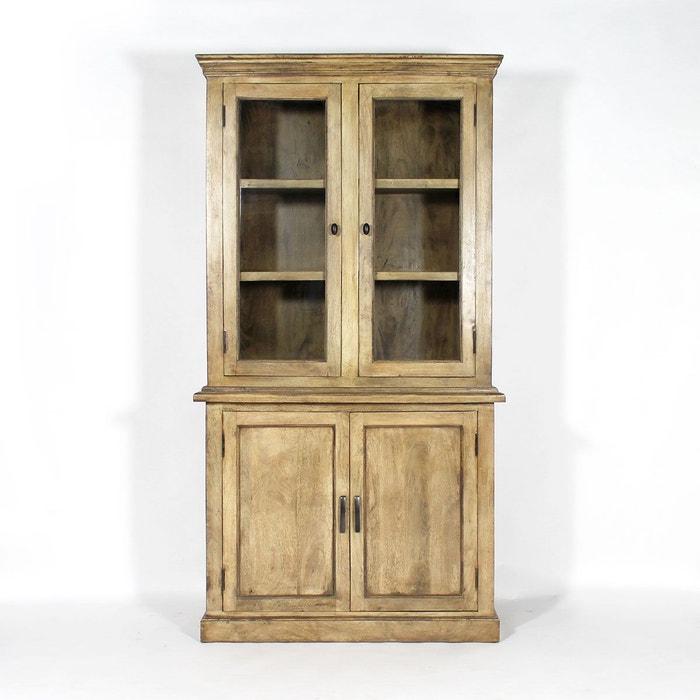 vaisselier en bois massif Buffet vaisselier bois massif vitré 4 portes | if617 bois Made In Meubles |  La Redoute