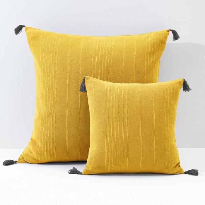 housse coussin ou oreiller pompons riad la redoute interieurs la redoute. Black Bedroom Furniture Sets. Home Design Ideas