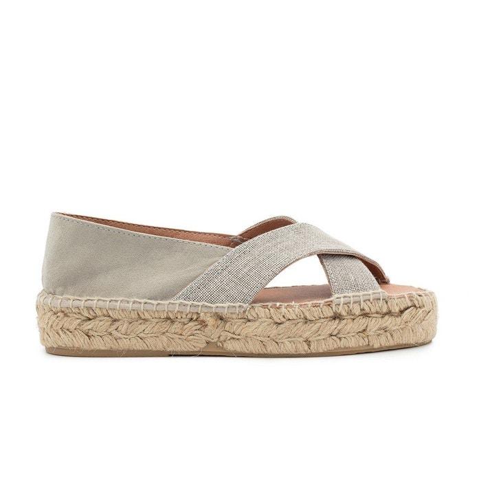 Sandale lin alicia gris Polka Shoes Vente Pas Cher Le Meilleur KReFD