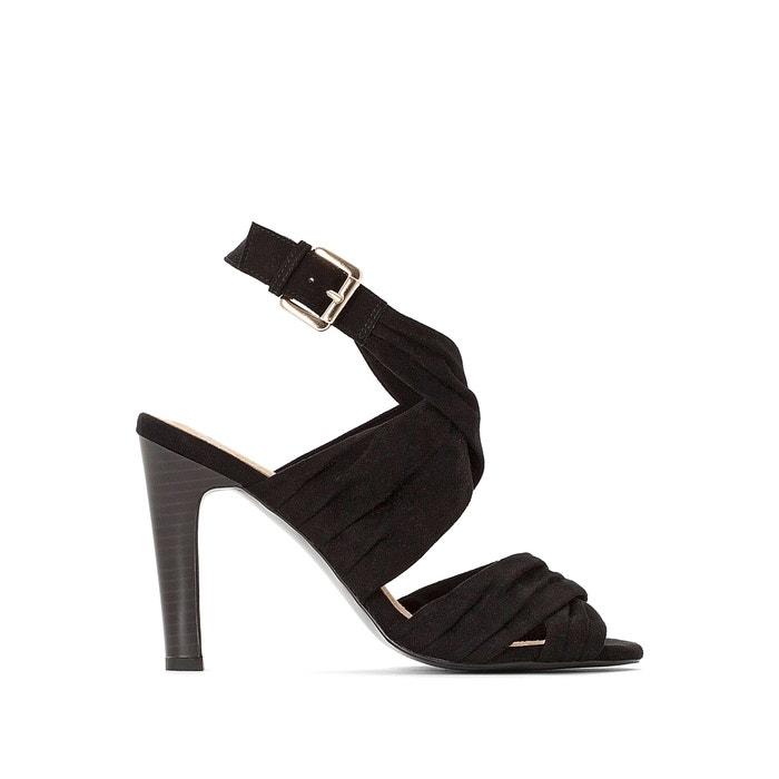 Spiksplinternieuw Sandalen met hoge hak, gedrapeerd effect zwart La Redoute QA-76