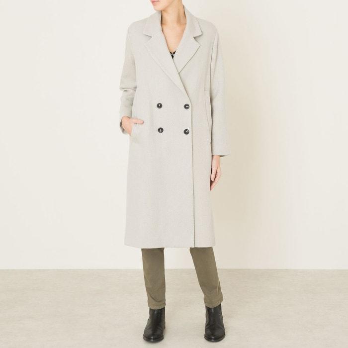manteau long femme blanc cass pomandere la redoute. Black Bedroom Furniture Sets. Home Design Ideas
