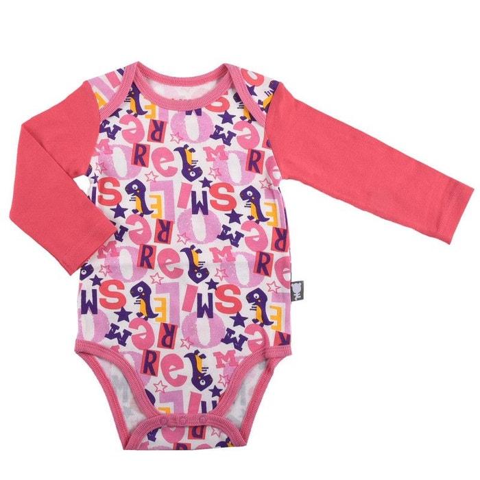 7d5399b189cc6 Body bébé fille manches longues more smile rose Petit Beguin