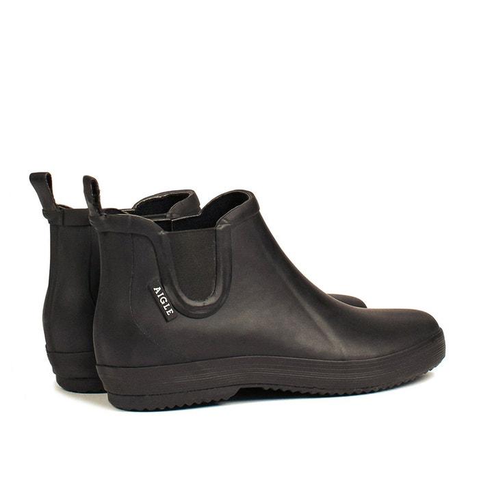 Boots de pluie malouine chelsea noir Aigle
