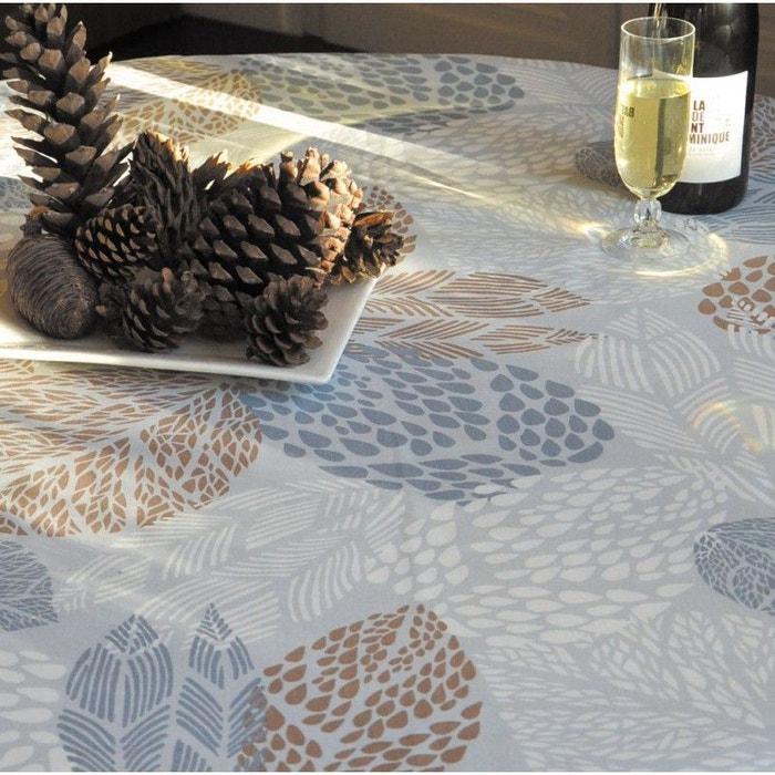 nappe enduite ronde ou ovale feuilles fleur de soleil la redoute. Black Bedroom Furniture Sets. Home Design Ideas