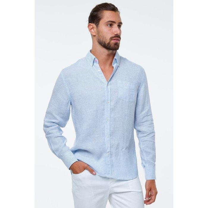 nouveau style 00d76 52182 chemise lin rayee