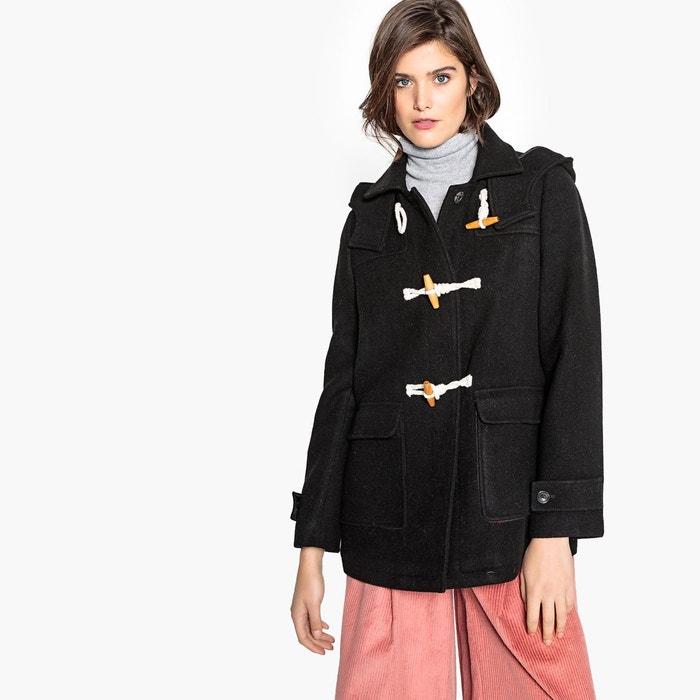 Duffle-coat à capuche, laine mélangée  LA REDOUTE COLLECTIONS image 0