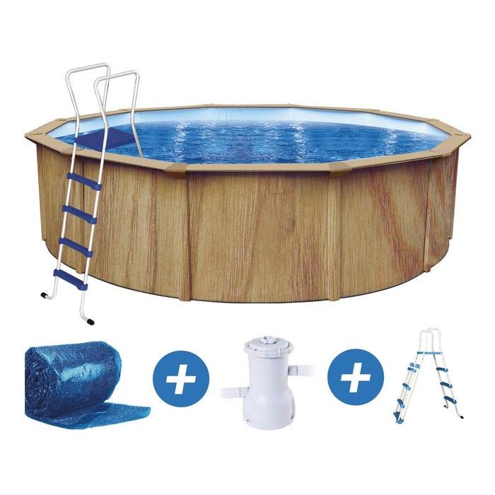 piscine acier ronde aspect bois punta cana x m habitat et jardin la redoute. Black Bedroom Furniture Sets. Home Design Ideas