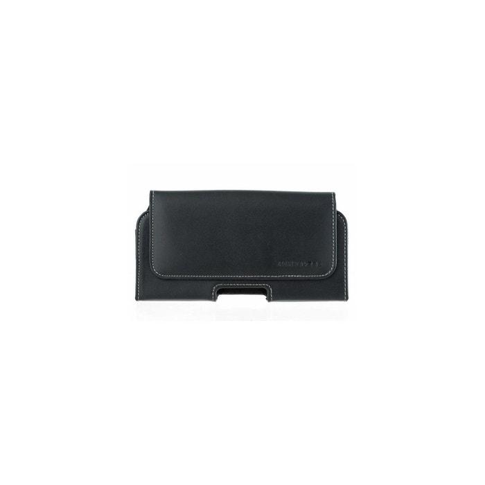 Housse ceinture pour moto g6 play en cuir lisse noir Amahousse   La Redoute 0155965e3a5
