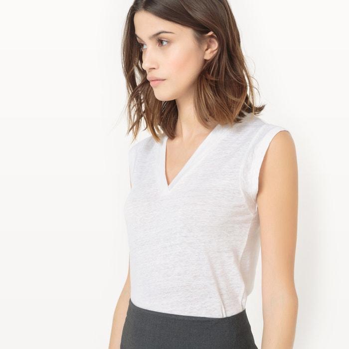 y Collections de sin Camiseta con pico mangas Redoute La cuello xRwnOqSP