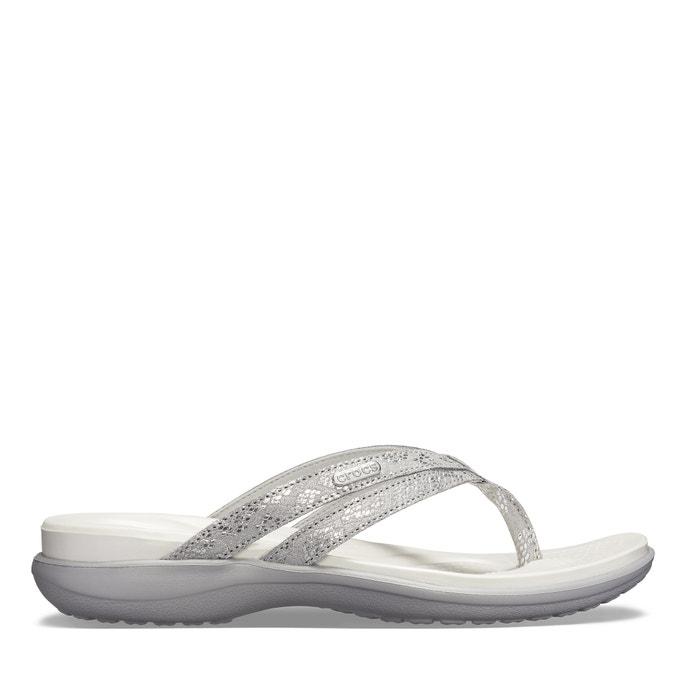 f0ee9db8f03 Capri strappy flip flops , silver-coloured, Crocs | La Redoute