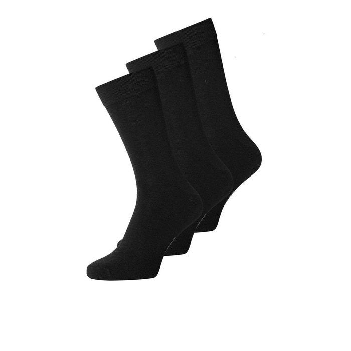 2d128aec4417 Chaussettes laine lot de 3 noir black Jack   Jones