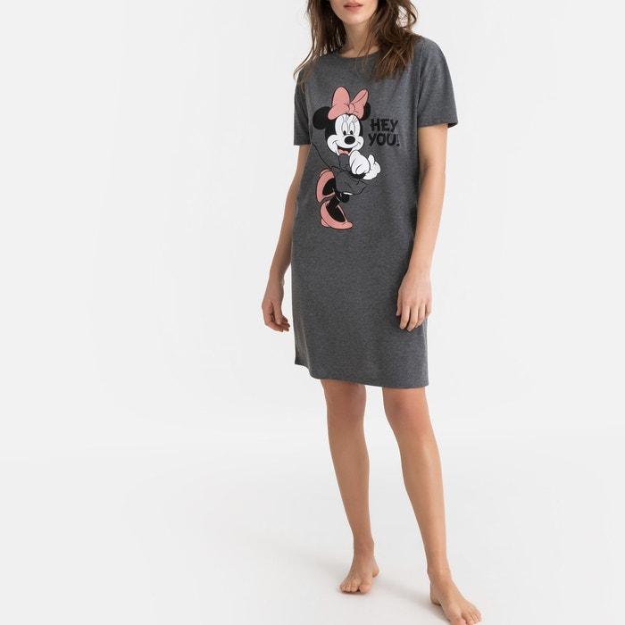 6d1c3da0c8a Chemise de nuit manches courtes imprimé devant gris anthracite Mickey