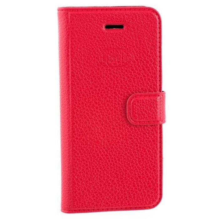 housse folio pour iphone se cuir rouge grain rouge amahousse la redoute. Black Bedroom Furniture Sets. Home Design Ideas