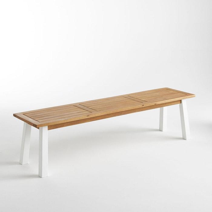 banc de jardin acacia astuto teck am pm la redoute. Black Bedroom Furniture Sets. Home Design Ideas
