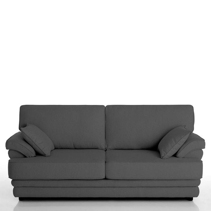 afbeelding Vaste 2-of 3-zit canapé Newcastle, uitstekend comfort in halfgevlochten katoen La Redoute Interieurs