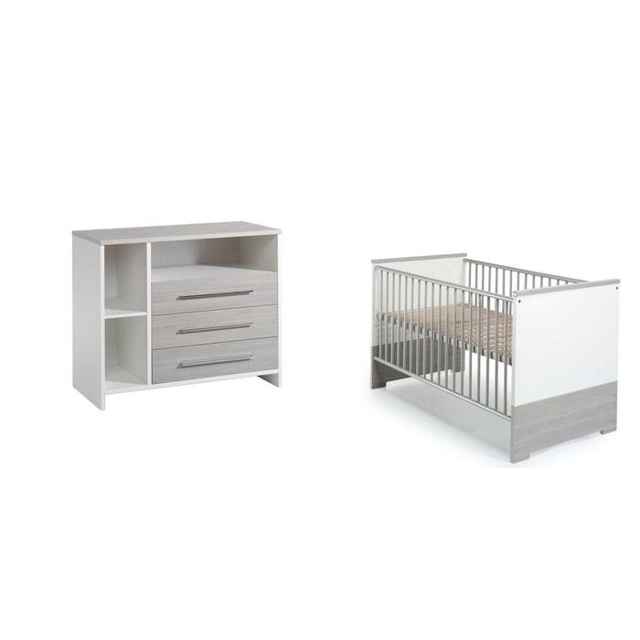 chambre duo eco silver lit volutif commode schardt couleur unique schardt la redoute. Black Bedroom Furniture Sets. Home Design Ideas