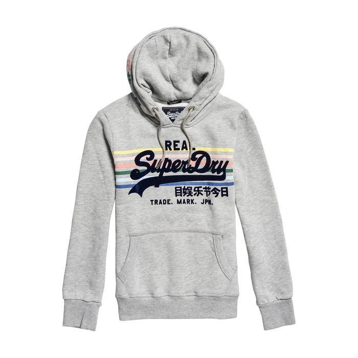 Vintage Logo Rainbow Hoodie Grey Marl Superdry La Redoute