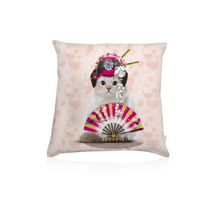 Coussin garni jasmine geisha champagne teo jasmin la redoute for Housse de coussin la redoute