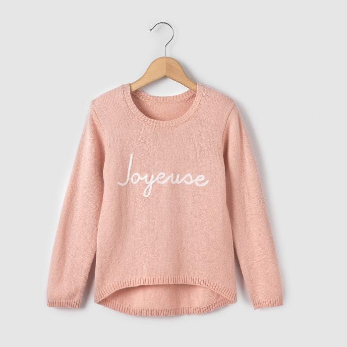 """фото Пуловер теплый с вышитой надписью """"joyeuse"""", 3-12 лет R essentiel"""