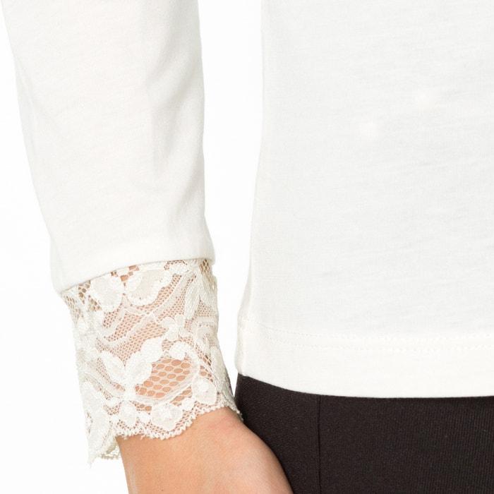 cuello manga de con WEYBURN ANNE larga alto lisa Camiseta q0n7a0gwI