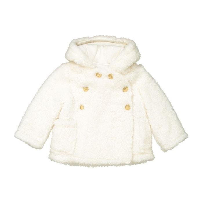 regarder bfb89 14f22 Manteau à capuche imitation fourrure 1 mois-3 ans
