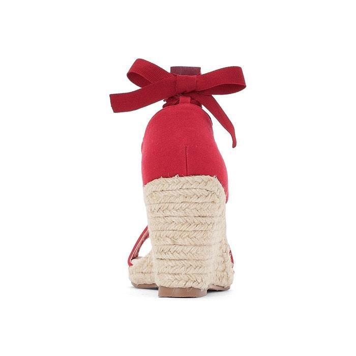 Sandales talon compensées à noues chevilles Anne Weyburn