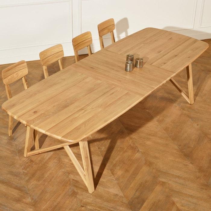 Table Chene Clair Avec Rallonge: Grande Table à Rallonges En Chêne Massif, Lucette Bois