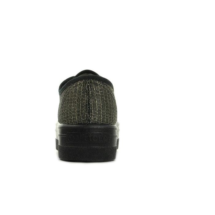 Basket tejido fil textile noir, doré Victoria