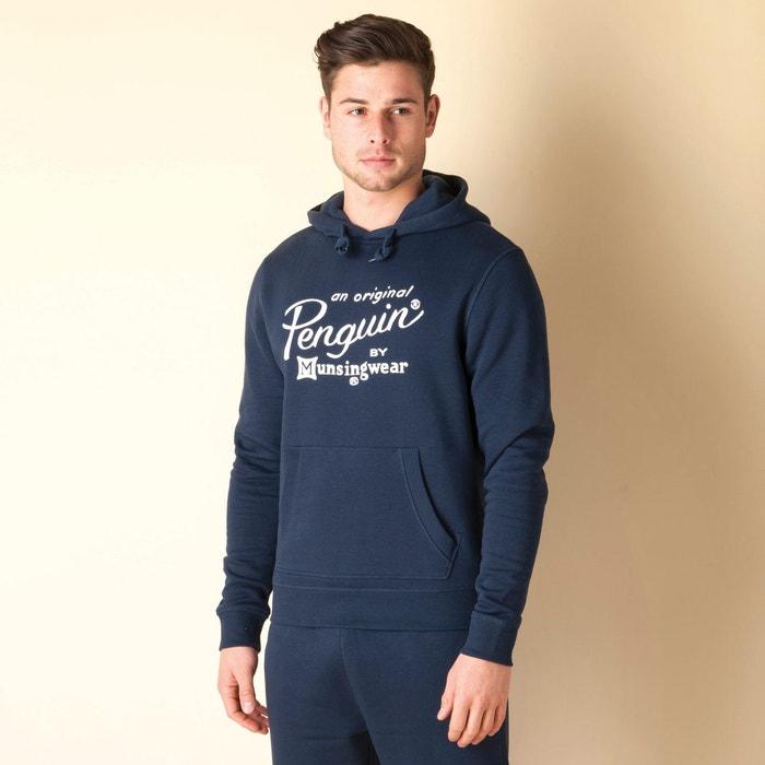 sweat capuche script logo pour hommes bleu marine original penguin la redoute. Black Bedroom Furniture Sets. Home Design Ideas
