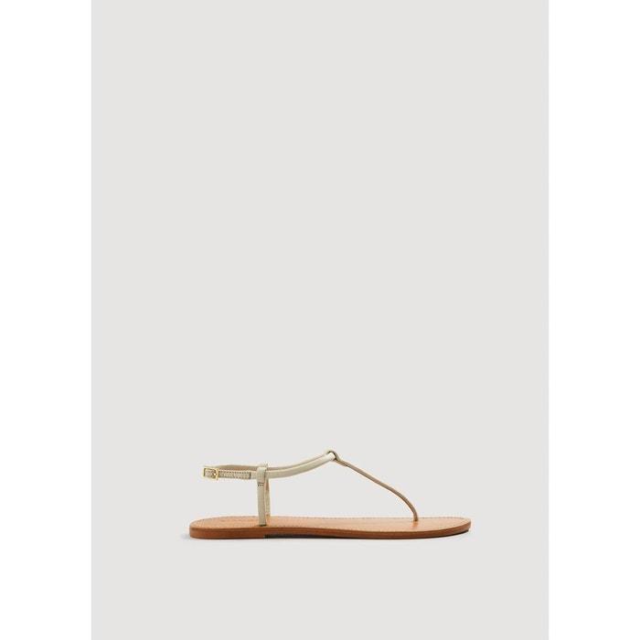Sandales àlanières cuir Mango