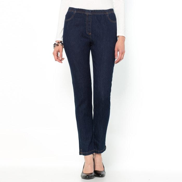 Image Tapered Stretch Denim Jeans ANNE WEYBURN