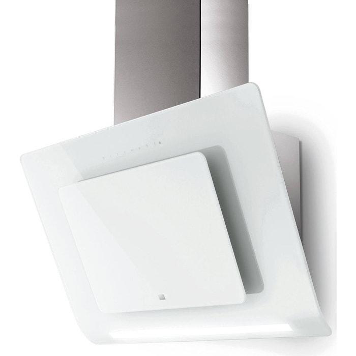 roblin hotte d corative inclin e 80cm 590m3 h blanc 5038011 roblin la redoute. Black Bedroom Furniture Sets. Home Design Ideas