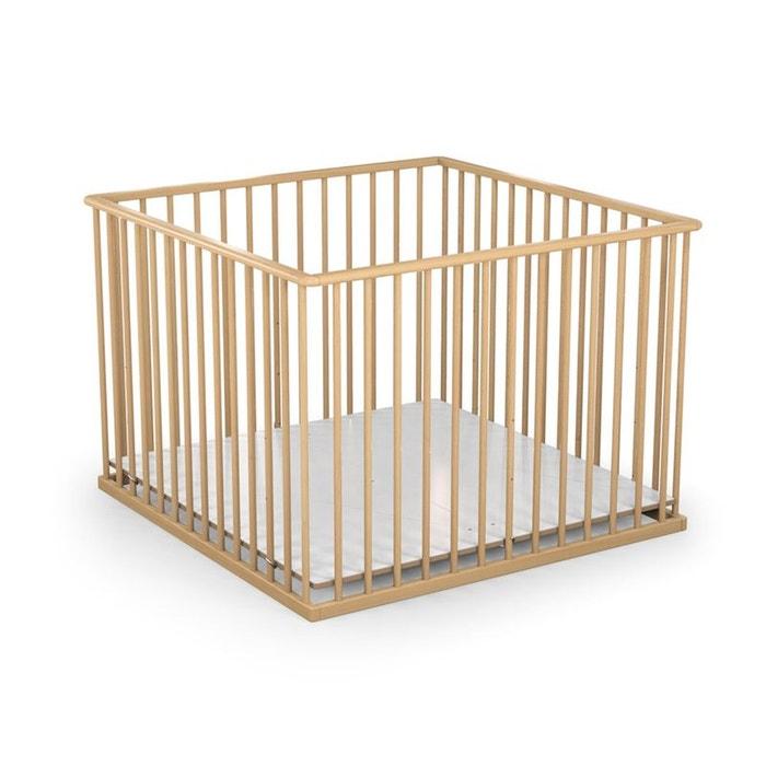 parc b b en bois h tre vernis baby fox 3 hauteurs 100 x 100 cm couleur unique baby fox la redoute. Black Bedroom Furniture Sets. Home Design Ideas
