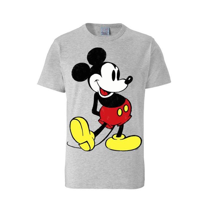 t shirt mickey mouse disney mickey retro logo gris gris noir logoshirt la redoute. Black Bedroom Furniture Sets. Home Design Ideas