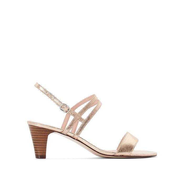28298adca52d Strappy iridescent sandals gold-coloured Esprit