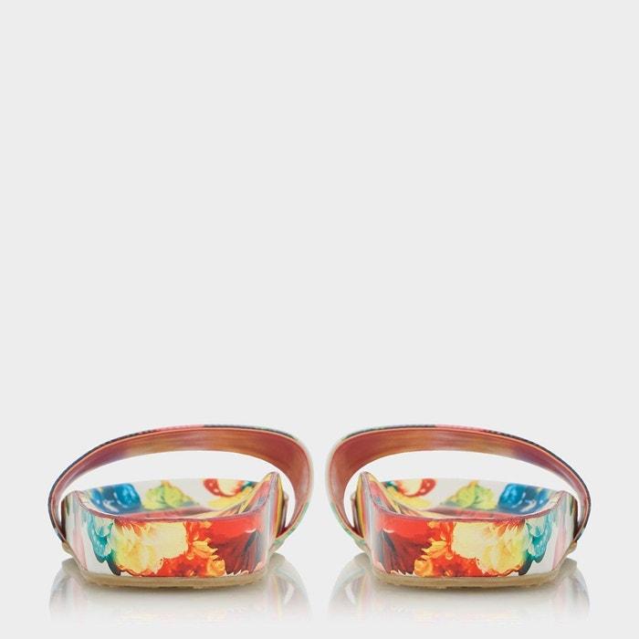 Sandales à enfiler à imprimé floral - lilley multicolore synthetic patent Dune London